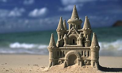 North America, USA, Hawaii. Sand castle (Newscom TagID: ddpphotos265576)     [Photo via Newscom]